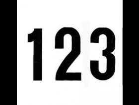 Plakletters/cijfers