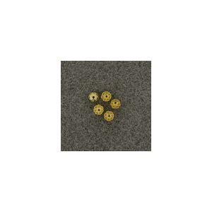 Kralenkapje gold 6mm