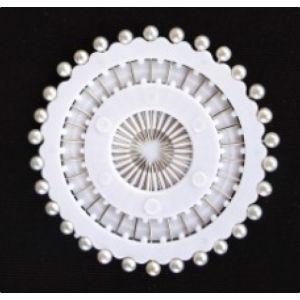 Parel spelden 46mm wit