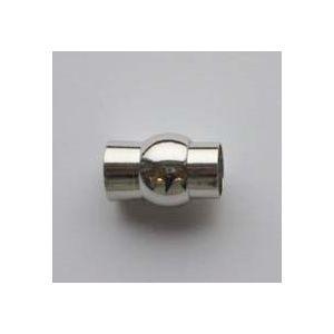 Magnetische koord sluiting 9821 zilverkleurig