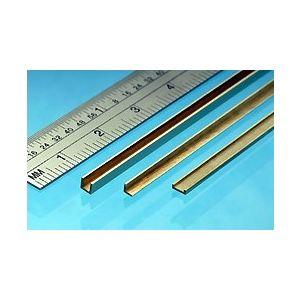 Messing C-profiel 1x2,5x1mm
