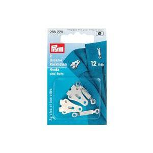 Prym broek- en rokhaken met staafjes zilverkleurig 12mm 2 stuks