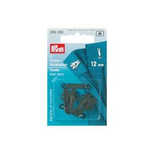 Prym broek- en rokhaken met staafjes zwart 12mm 2 stuks