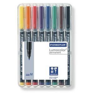Set Staedtler Lumocolor permanent M Box 8st 1mm