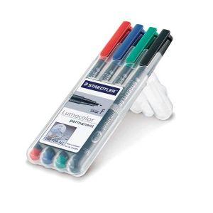 Set Staedtler Lumocolor permanent F Box 4st 0,6mm
