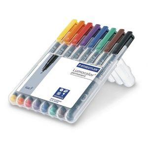 Set Staedtler Lumocolor permanent F Box 8st 0,6mm