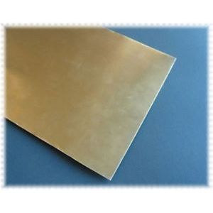 Messing plaat 0,12x100x250mm