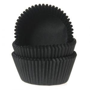 Baking Cups Zwart 50st