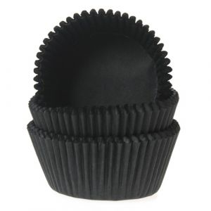 Baking Cups mini Zwart 50st