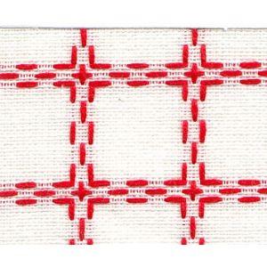 Beiersbont 5400.11 wit/rood