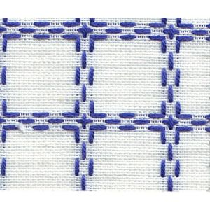 Beiersbont 5400.12 wit/blauw