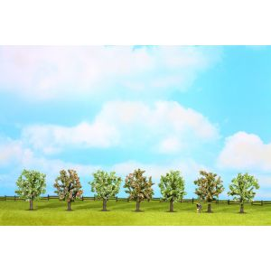 NOCH Bloeiende fruitbomen 8cm 7st