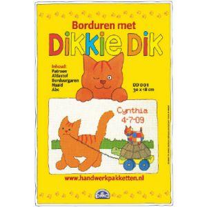 Borduurpakket Dikkie Dik DD001 met schildpad