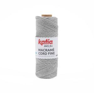 Katia Macramé Cord fine kleur 201 Medium grijs