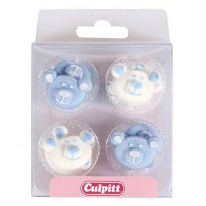 Culpitt Suikerdecoratie Baby Beren blauw