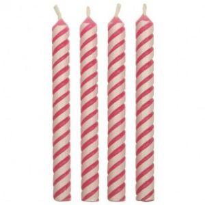 PME Candles striped pink 24 stuks