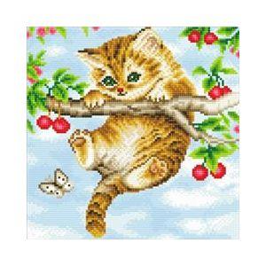 Crystal Art Kit® Canvas collection Cherry kitten