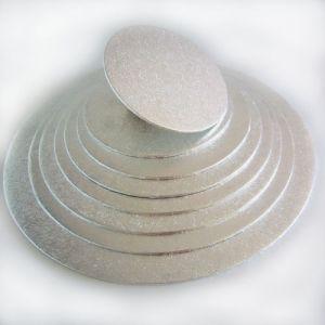 Cake Board round 4mm dik zilver Ø 20cm