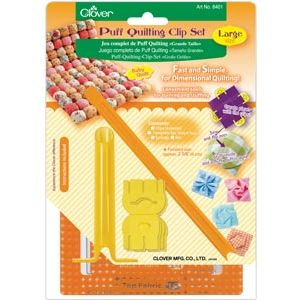 Clover puff quilting clips large