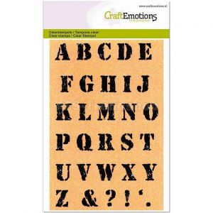 Clearstempel Alfabet Vintage