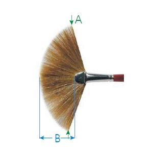 Da Vinci penseel serie 406 nr. 02