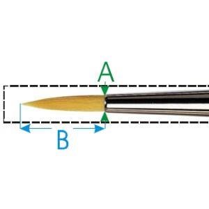 Da Vinci penseel nr. -3