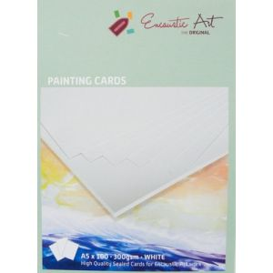 Encaustic  papier schilderskaart A4 wit