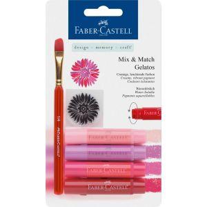 Faber Castell Mix & Match Gelatos & Clear Stamp Set Red