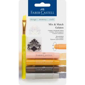 Faber Castell Mix & Match Gelatos & Clear Stamp Set Neutral