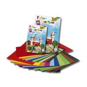 Folia fotokarton blok 22x33cm 10 vel assorti