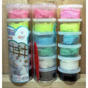 Foam Clay Glitter set van 6 kleuren
