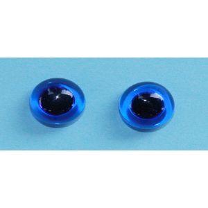 Glas ogen blauw 16mm