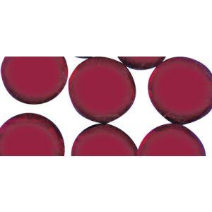 Glassteentjes rond 1cm rood