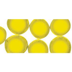Glassteentjes rond 1cm geel