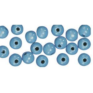 Houten kraal Lichtblauw