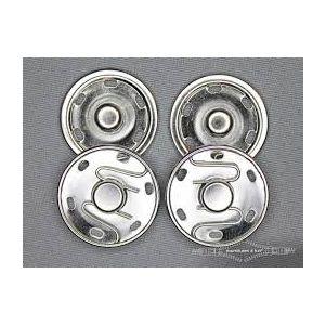 Aannaai drukknopen Ø30mm zilverkleurig 2st