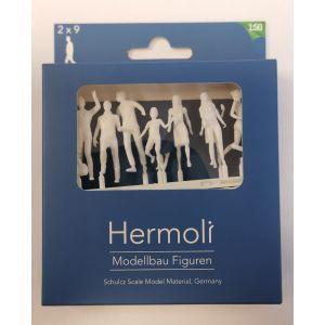 Hermoli 1:50 Lopende figuren walking figures 18 stuks
