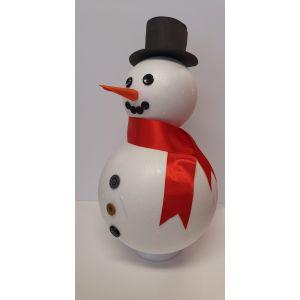 Kerst surprise pakket zelf maken: Sneeuwpop 45cm hoog