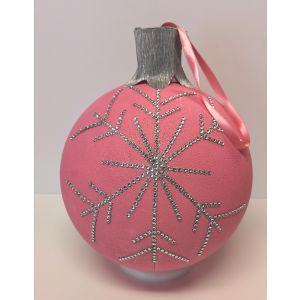 Sinterklaas surprise pakket zelf maken: Kerst surprise pakket zelf maken: Kerstbal roze 25cm
