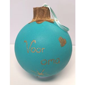 Sinterklaas surprise pakket zelf maken: Kerst surprise pakket zelf maken: Kerstbal rood 25cm