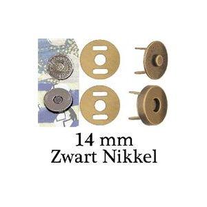 Clover magneetsluiting 14mm black nickel