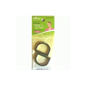 Clover D-ring 25mm glossy nickle