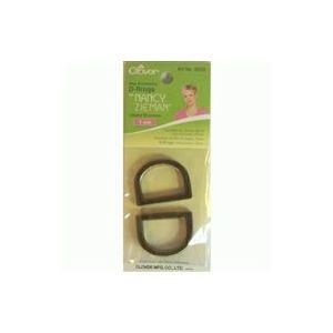 Clover D-ring 25mm satin bronze