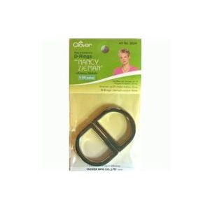 Clover D-ring 30mm glossy nickle