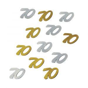 Jubileum paillet 70 goud/zilver Rayher 39 287 49