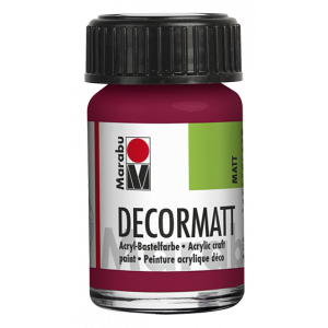 Marabu Decormatt acrylverf 15ml 004 Granaatappelrood