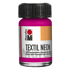 Marabu Textiel Neon verf 15ml 334 neon-roze