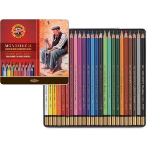KIN aquarel potloden set 24 st assorti