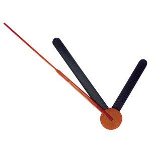 Klok Wijzers 60/80mm zwart/rood Rayher 89 317 01