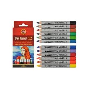 Koh I Noor wax aquarel set 12st